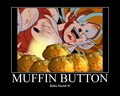 Goku found the muffin button - mario-and-goku photo
