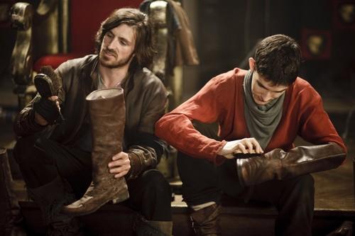 Gwaine & Merlin- Season 3