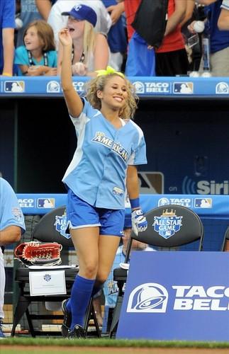 Haley at a Softball Game