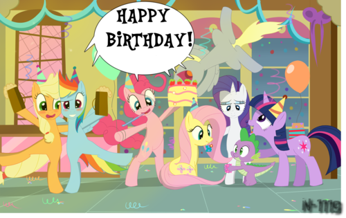 My Little kuda, kuda kecil Friendship is Magic kertas dinding containing Anime titled Happy birthday fluttershy :D