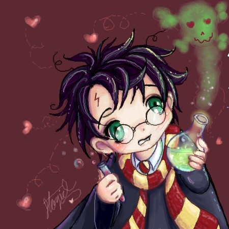 Harry Potter Anime wallpaper containing anime called Harry