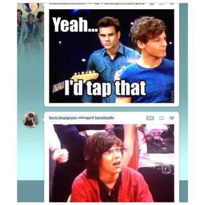 Harry's face:priceless