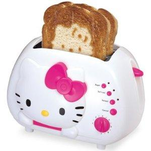 Sanrio wallpaper with a toaster called Hello Kitty things
