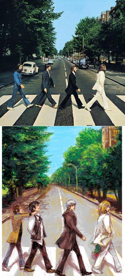 Hetalia/Beatles Crossover