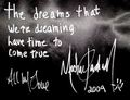 His autograph 2009 - michael-jackson photo