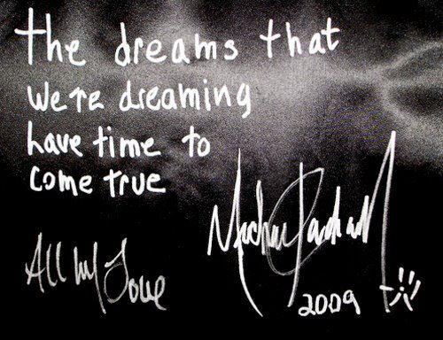 His autograph 2009