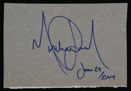 His autograph