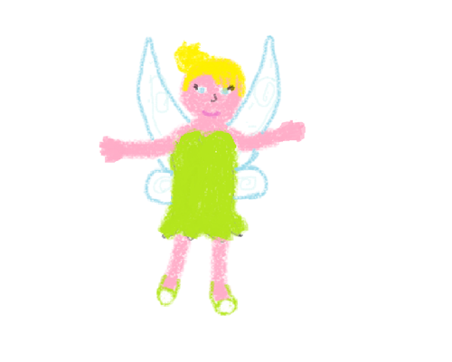 I AM TINKERBELL'S BIGGEST EVER FAN!!!! SO I DREW THIS!!!!