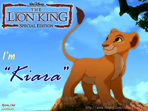 The Lion King 2:Simba's Pride wallpaper containing anime titled I'm KIARA ( TLK II kiara cub )