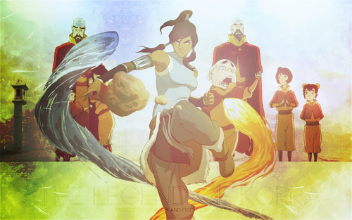 Avatar: The Legend of Korra wallpaper possibly containing anime called I made these wallpapers :)