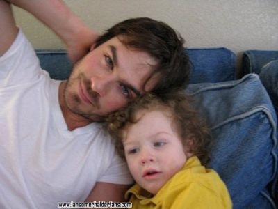 Ian Somerhalder wallpaper possibly containing a neonate titled Ian and His Family