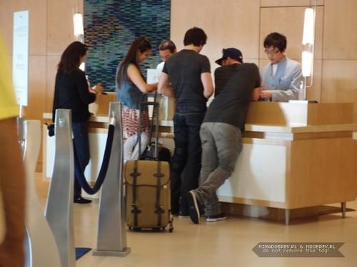 Ian and Nina inside hotel