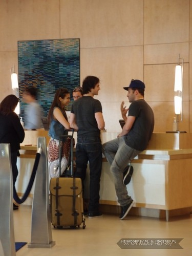 Ian and Nina inside hotel