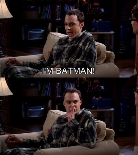 Sheldon Cooper wallpaper containing a reading room, a drawing room, and a family room entitled Im batman