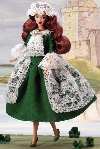 Barbie: Dolls Collection wallpaper possibly with a kirtle titled Irish Barbie® Doll 2nd Edition 1995