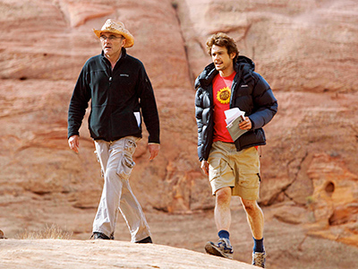 "James behind the scenes of ""127 Hours"""