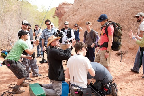 "James behind the scenes of ""127 Hours"""