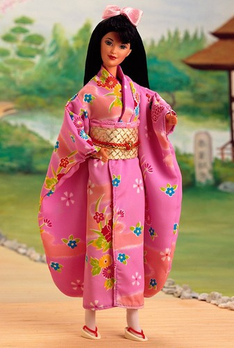 Barbie: Dolls Collection wallpaper containing a kimono called Japanese Barbie® Doll 2nd Edition 1996