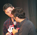 Jensen, Misha and Plushie!