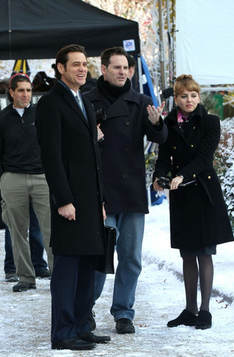 "Jim Carrey images Jim Carrey On Set Of ""Mr. Popper's Penguins"" wallpaper and background photos"