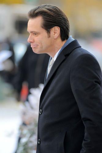 """Jim Carrey On Set Of """"Mr. Popper's Penguins"""""""