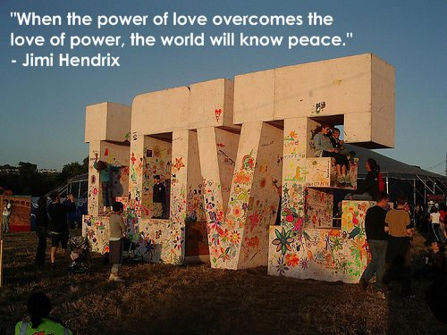 Jimi Hendrix Quote ~ The Power of Любовь