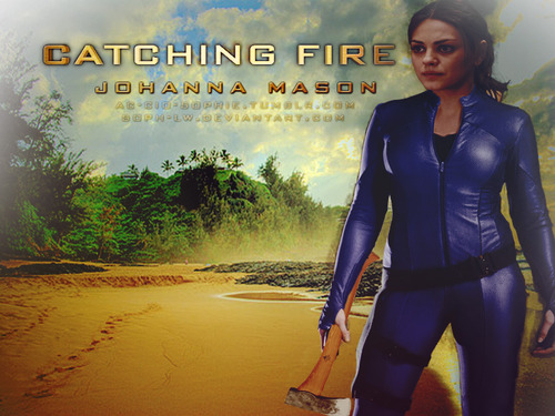 Hunger Games fond d'écran with a well dressed person and a hip boot entitled Johanna Mason fan Art