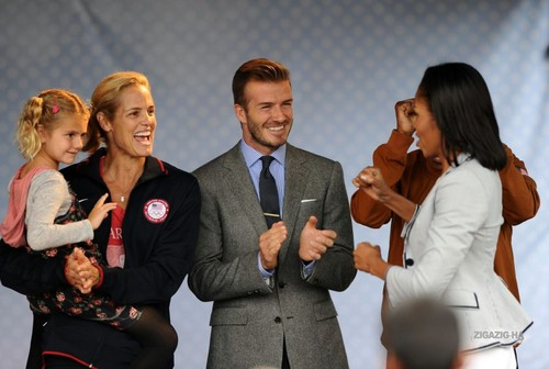 July 27th - London - David at an Olympic party at the U.S. Ambassador's residence - david-beckham Photo