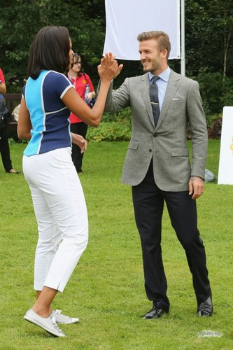 July 27th - Londra - David at an Olympic party at the U.S. Ambassador's residence