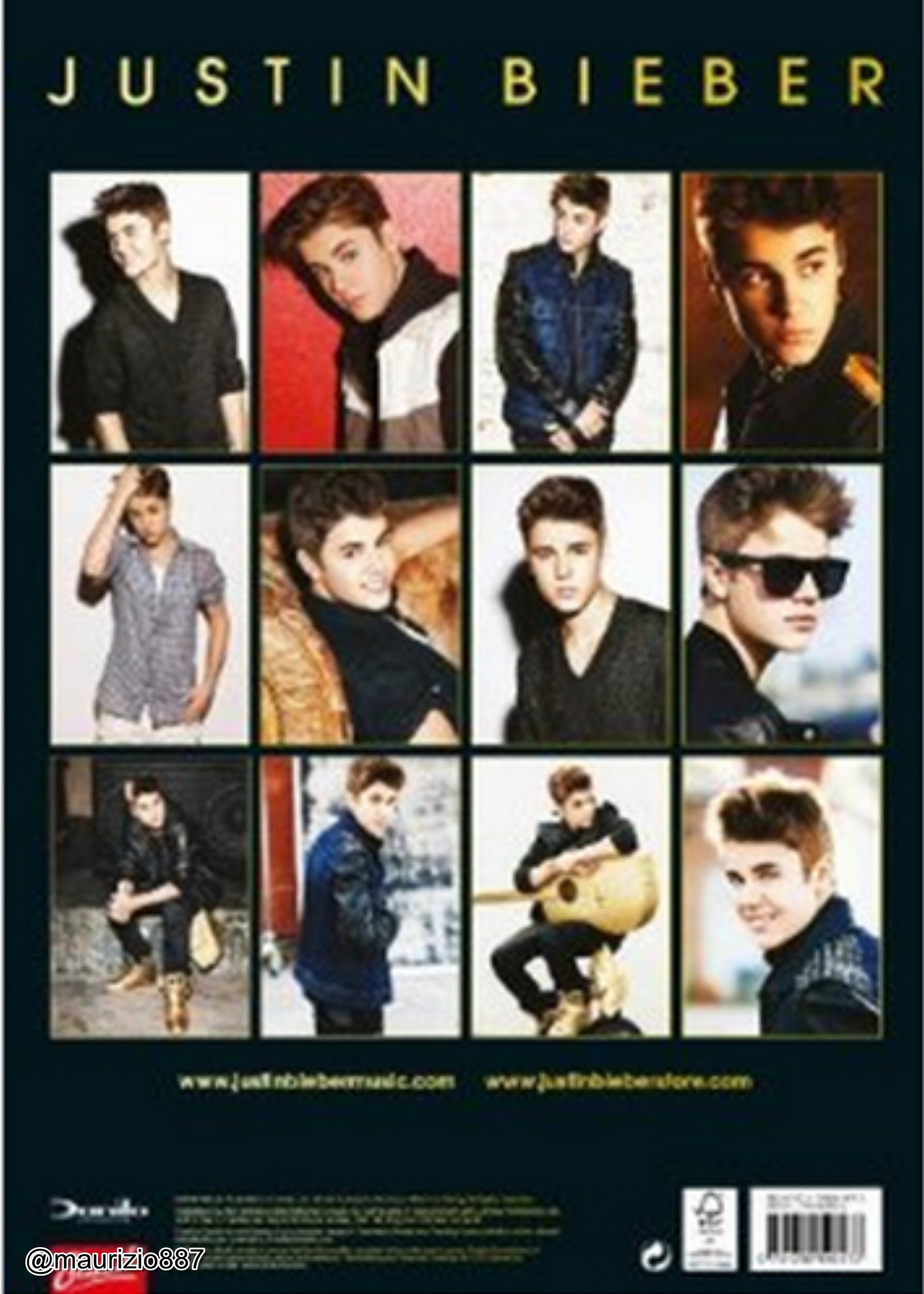 Justin Bieber Justin Bieber The Official Calendar 2013