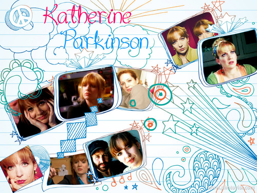 캐서린 파킨슨 바탕화면 possibly with a sign entitled Katherine Parkinson