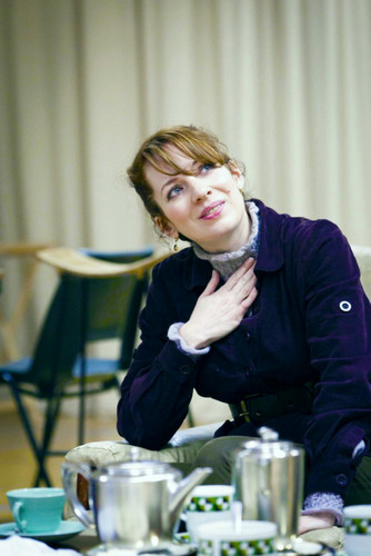 캐서린 파킨슨 바탕화면 probably containing a coffee break, a 공식 만찬, 저녁 식사 table, and a 브라 세리 entitled Katherine Parkinson