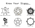 Know your Signs - supernatural fan art