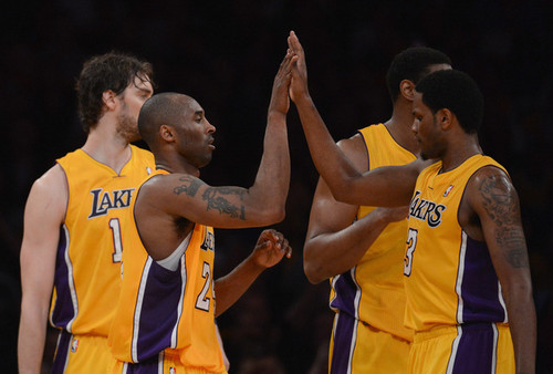Kobe, Pau, Andrew, and Devin