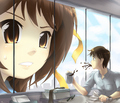 Kyon can't forget Haruhi!