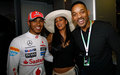 Lewis,Nicole & Will Smith  - lewis-hamilton wallpaper