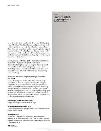Lisa (Fault Magazine 2012)
