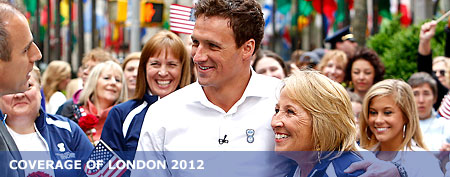 Ryan Lochte Обои possibly with a калитка and a улица, уличный entitled Lochtes Mom & Ryan