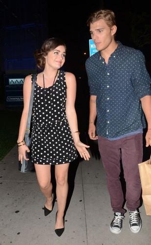 Lucy and her boyfriend Chris Zylka leaving 蟒蛇, 宝儿 steakhouse in LA