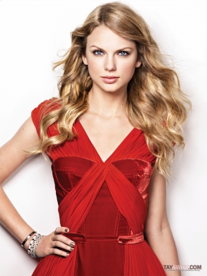 Taylor Swift wallpaper with a cocktail dress, a dinner dress, and a gown titled Marie Claire Photoshoot