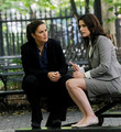 Mariska Hargitay & Paget Brewster filming an episode of Law & Order SVU - mariska-hargitay photo