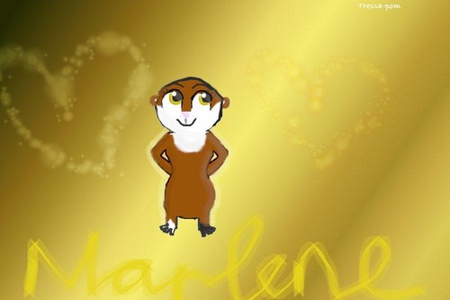 Marlene the Otter wallpaper probably containing a sign entitled Marlene ^^
