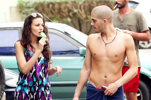 Max George and Michelle Keegan in Barbados