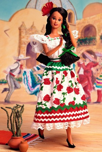 Barbie: Dolls Collection wallpaper probably with a bridesmaid, a bouquet, and a dinner dress called Mexican Barbie® Doll 2nd Edition 1996