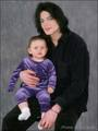 Michael And Baby Daughter, Paris