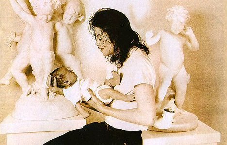 Michael And His Infant Son, Prince