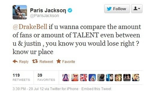 Michael Jackson the King Of Pop's 14 years old daughter Paris Jackson defends Justin Bieber
