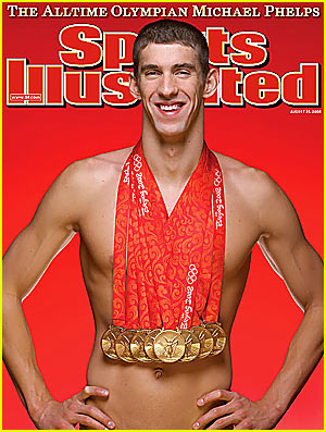 Michael Phelps on Sports Illustrated -- 8 or médailles