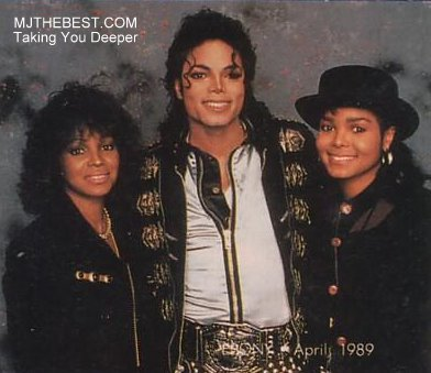 Michael With His Two Sisters Rebbie And Janet