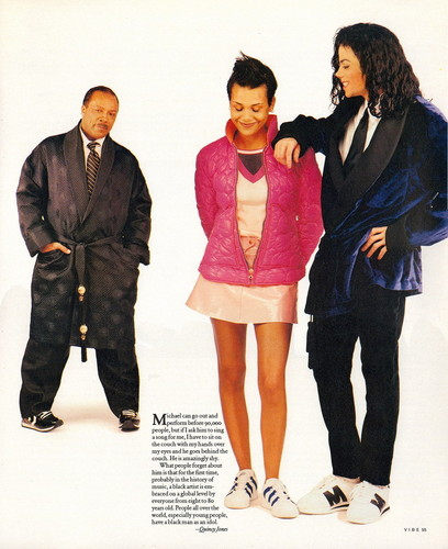 Michael With Quincy Jones And Daughter, Kidada